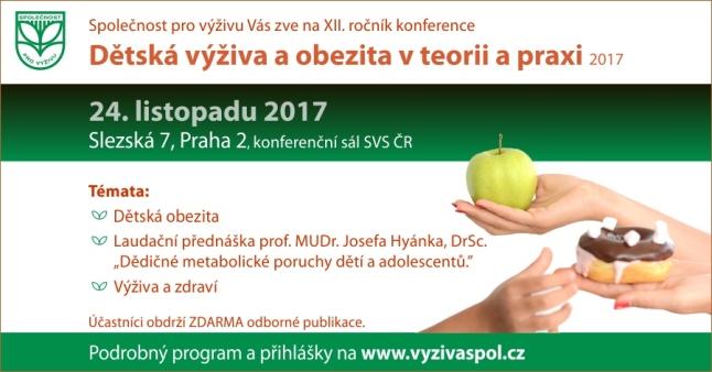 Konference Dětská výživa a obezita v teorii a praxi