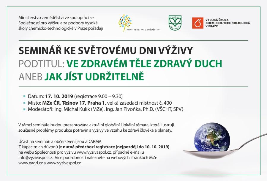 Seminář ke Světovému dni výživy 2019