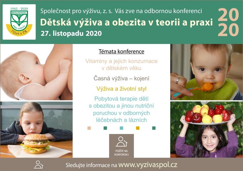 Konference Dětská výživa a obezita v teorii a v praxi 2020